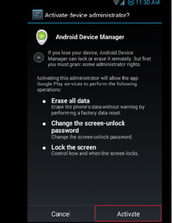 android device manager activate