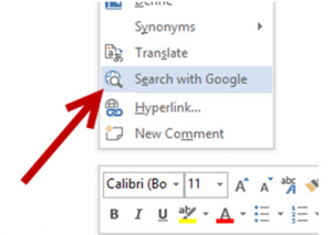 change search engine ms word