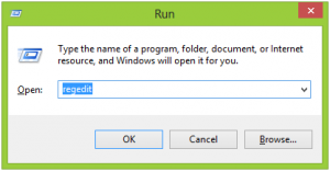 how to open run windows 8